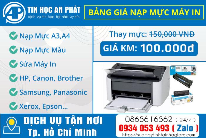 Dịch vụ thay mực máy in tại nhà TpHCM giá rẻ